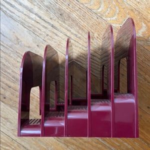 Vintage Eldon Plastic File Holder Burgundy